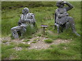 NO1378 : Life size figurative sculptures  in fibreglass at the Cairnwell Pass by Stanley Howe