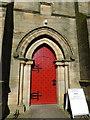 NZ0371 : Holy Trinity, Matfen, Doorway by Alexander P Kapp
