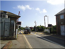 TQ6304 : Level crossing, Pevensey and Westham railway station by Stacey Harris