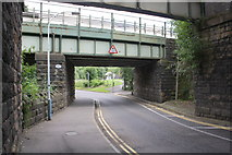SK3871 : Railway bridge SPC9/86 under Chesterfield Station by Roger Templeman