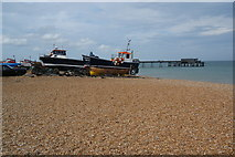 TR3752 : Fishing boats on the beach at Deal by Bill Boaden