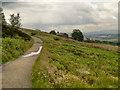 SD6821 : Darwen Moor, Path towards Darwen Tower by David Dixon