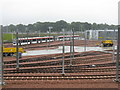 NT1772 : Edinburgh Tram Depot and the A8 by M J Richardson