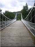 NO2694 : On the Easter Balmoral suspension bridge by Stanley Howe