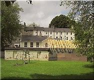 SX9164 : New roof by Upton Park by Derek Harper