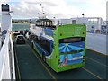 SZ0386 : Sandbanks: open-top bus on the ferry by Chris Downer