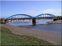 SH9980 : Foryd Bridge by Chris Andrews