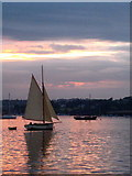 SW8132 : Sunset over the Inner Harbour in Falmouth by Rod Allday