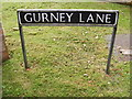 TG1906 : Gurney Lane sign by Adrian Cable