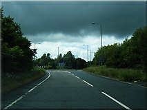SE4111 : A628 approaching Brierley Roundabout by Colin Pyle