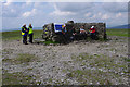 SD7474 : Checkpoint on Ingleborough by Ian Taylor