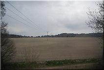 TQ2151 : Farmland by the North Downs Line by N Chadwick