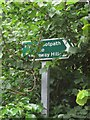 SX9065 : Footpath sign, Stantaway Hill by Derek Harper