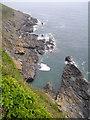 SX0141 : Rocks at Pen-a-maen by Derek Harper
