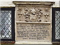SU6351 : Deane's Almshouses Plaque by Colin Smith