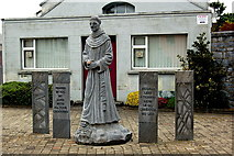 R3377 : Ennis - Walking Tour - Statue in The Friary Courtyard & Poor Clare Convent by Joseph Mischyshyn