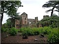 SJ5301 : First glimpse of Acton Burnell Castle by Christine Johnstone