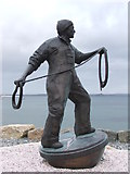 SW4629 : Fishermen memorial Newlyn by Ian Smith