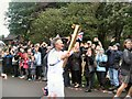 TQ2806 : Olympic Torch Relay in Hove Park by Paul Gillett