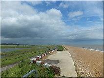 TQ9014 : Beach near Colonel Body Memorial Lakes by PAUL FARMER