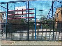 TQ2875 : Games court, Dunston Road, Battersea by Alex McGregor