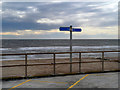 SD3145 : Promenade and Sea Front at Rossall by David Dixon