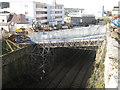 SX9373 : Temporary bridges, Fore Street bridge works by Robin Stott