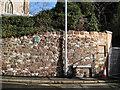 SX9373 : St James's churchyard wall, Bitton Park Road by Robin Stott