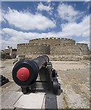 TR3752 : Bastion cannon, Deal Castle by Paul Harrop