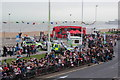 TQ8109 : Awaiting crowds, Day 60 Olympic Torch Relay by Oast House Archive