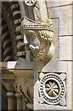 SK8572 : Bishop's Head, Thorney Church by Alan Murray-Rust