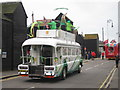 TQ8209 : Lloyds TSB promotional bus, Day 61 Olympic torch relay, Hastings by Oast House Archive
