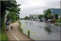 TQ2282 : Towpath to Gas St Basin by Glyn Baker