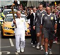 TQ0747 : Torchbearer Charlie Palmer by Colin Smith