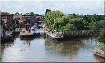 SK7953 : Newark, Notts (Basin & River) by David Hallam-Jones