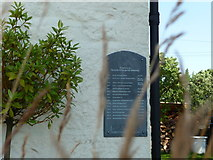 SO5209 : Plaque on the converted chapel in Penallt by Jeremy Bolwell