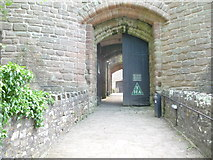 SO5504 : Entrance to the gatehouse at St. Briavels Castle by Jeremy Bolwell