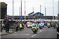 TQ8209 : Police outriders leading the Torch Relay, Day 61 by Oast House Archive