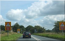 ST9898 : The A433 approaching a single track section of road by Ruth Riddle