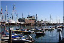 SY6878 : Weymouth Pavilion and Ferry Terminal by John Stephen