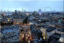 TQ3080 : Twilight over London from New Zealand High Commission by Christine Matthews