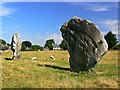 SU1069 : Two of the Avebury stones, Avebury, Wiltshire by Brian Robert Marshall
