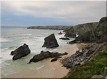 SW8469 : Bedruthan Steps by Ian Knight