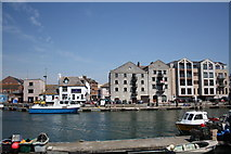 SY6778 : Weymouth Harbour, Commercial Road waterfront by John Stephen