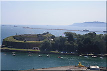 SY6878 : Nothe Fort and Portland by John Stephen