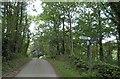 SE2804 : End of the public road Blacker Green Lane by Steve  Fareham