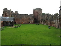 NS6859 : Bothwell Castle - looking east from the Donjon by M J Richardson