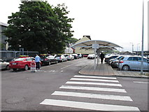 W6872 : Taxi rank and car park, Cork Kent Station by David Hawgood