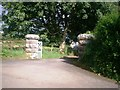 SN1608 : Large Gateposts, Hanover Court, Amroth by welshbabe