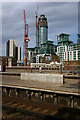 TQ3078 : The Tower One, St George Wharf under construction by Julian Osley